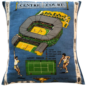 Wimbledon centre court souvenir teatowel cushion cover