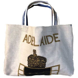 Adelaide ex POWs on a tote bag