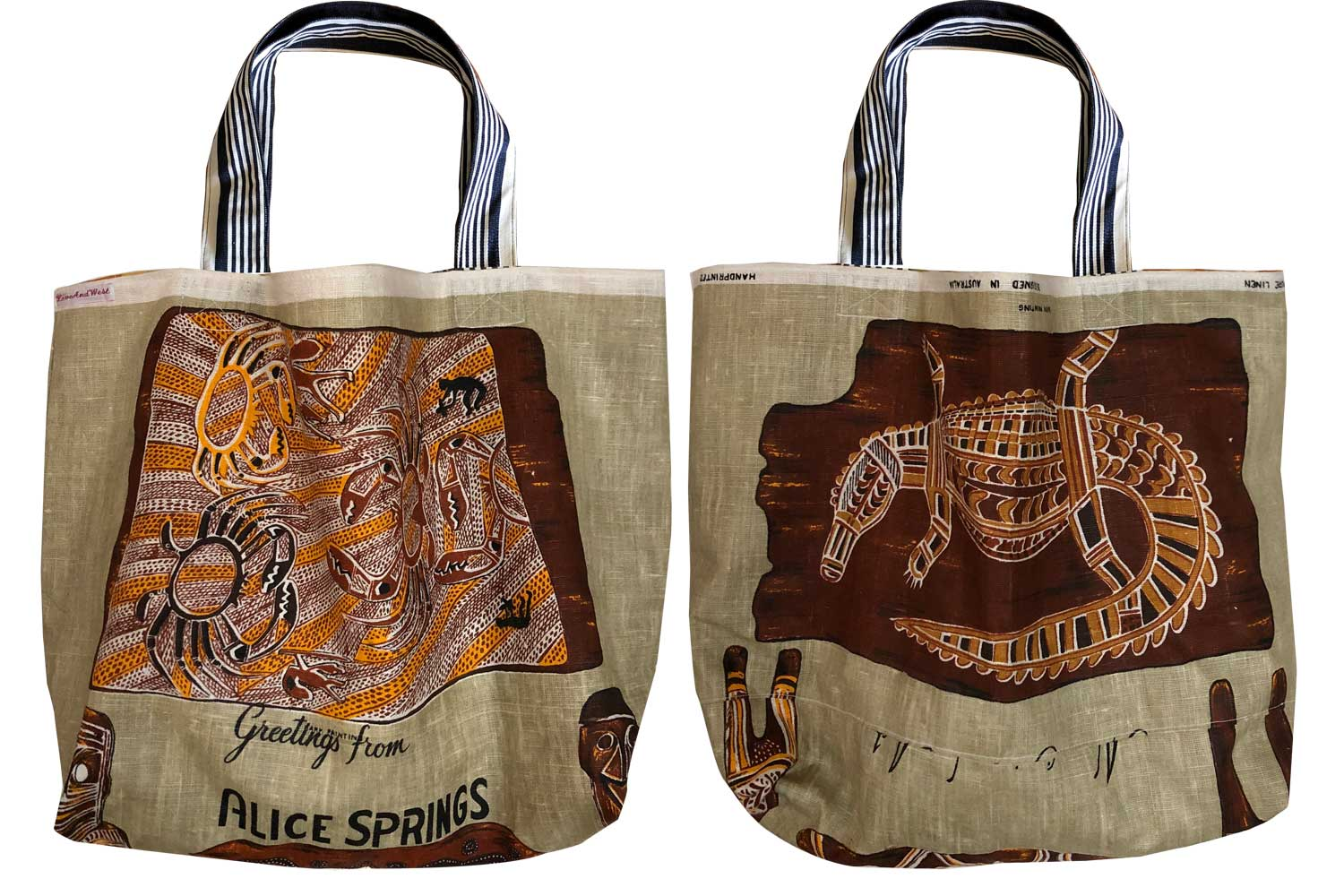 Alice Springs teatowel tote bag