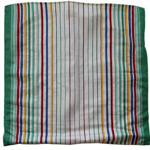 Love And West green stripe linen vintage teatowel cushion cover