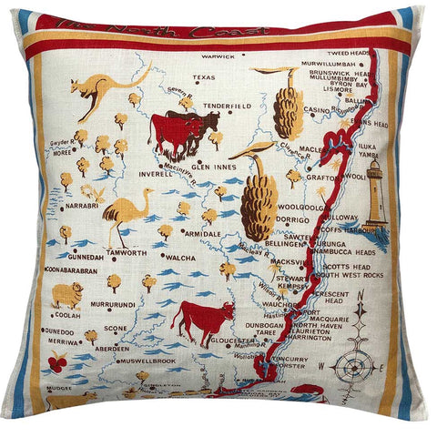 new south wales north coast souvenir teatowel cushion cover