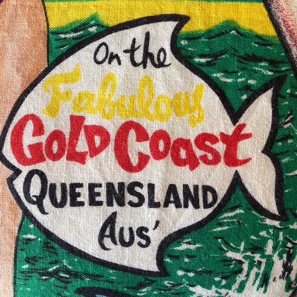 On the fabulous Gold Coast teatowel detail