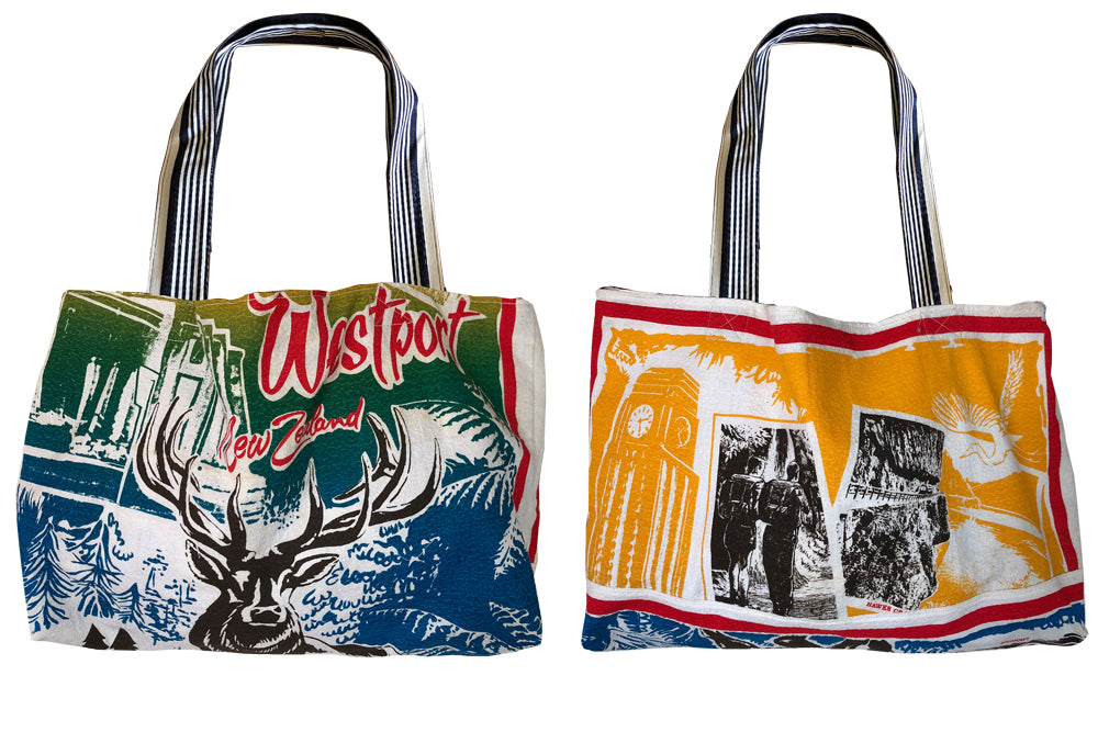 Westport New Zealand teatowel tote