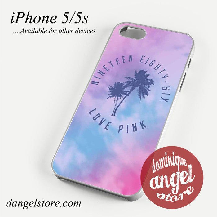 1986 Love Pink Phone case for iPhone 4/4s/5/5c/5s/6/6 plus - dangelstore