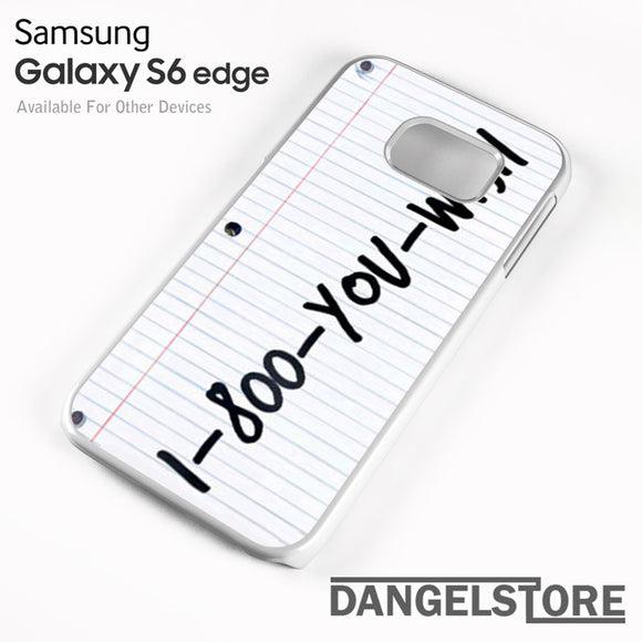1 800 you wish Z - samsung galaxy case - samsung galaxy S6 Edge - DANGELSTORE
