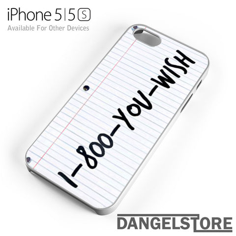 1 800 you wish Z - iphone case - iphone 5 case - DANGELSTORE