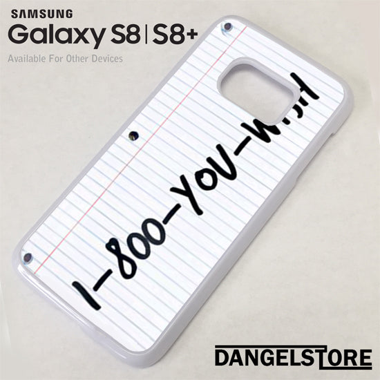 1 800 you wish Z - Samsung S8 case - Samsung S8 Plus Case - DANGELSTORE
