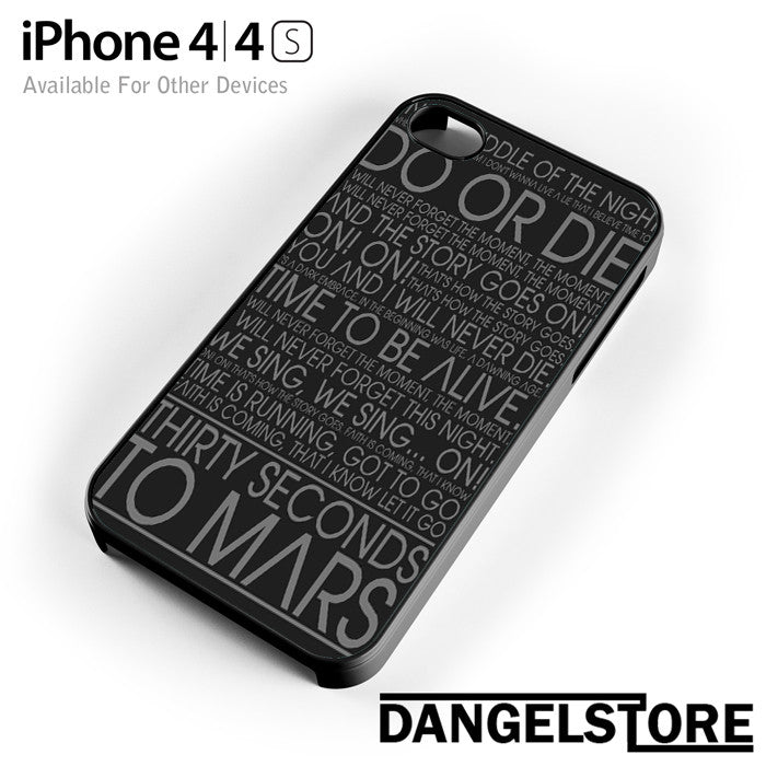 30 Seconds To Mars Lyric - iphone case - iphone 4 - DANGELSTORE