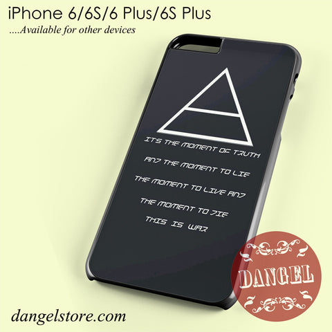 30 Seconds To Mars Band Quotes Phone case for iPhone 6/6s/6 Plus/6S plus