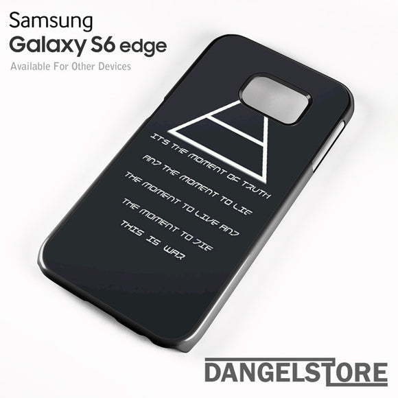 30 Seconds to Mars QuotesYD - samsung galaxy case - samsung galaxy S6 Edge - DANGELSTORE