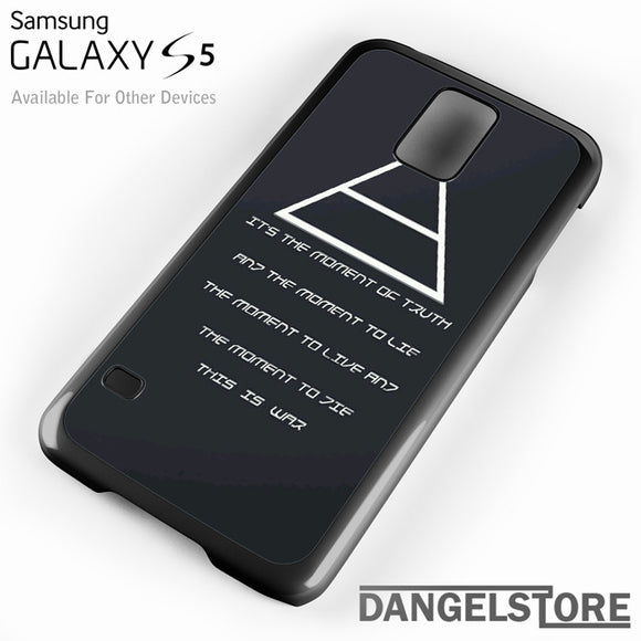 30 Seconds to Mars QuotesYD - Samsung Galaxy Case - Samsung S5 Case