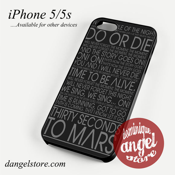 30 Seconds To Mars Lyric Phone case for iPhone 4/4s/5/5c/5s/6/6 plus