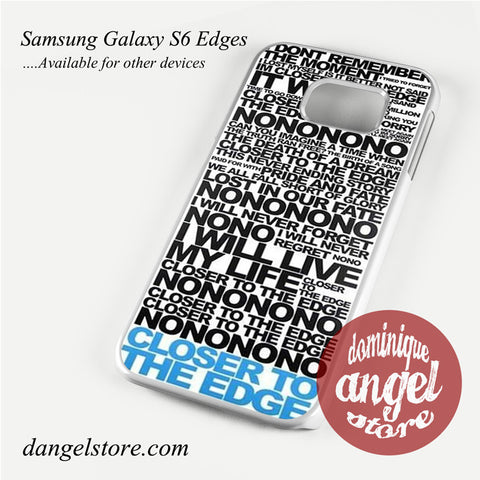 30 Seconds To Mars Song Lyrics Phone Case for Samsung Galaxy S3/S4/S5/S6/S6 Edge - dangelstore