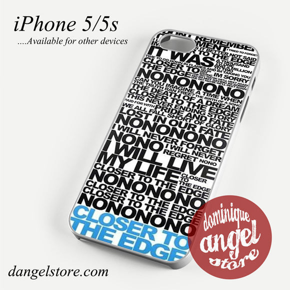 30 Seconds To Mars Song Lyrics Phone case for iPhone 4/4s/5/5c/5s/6/6 plus - dangelstore