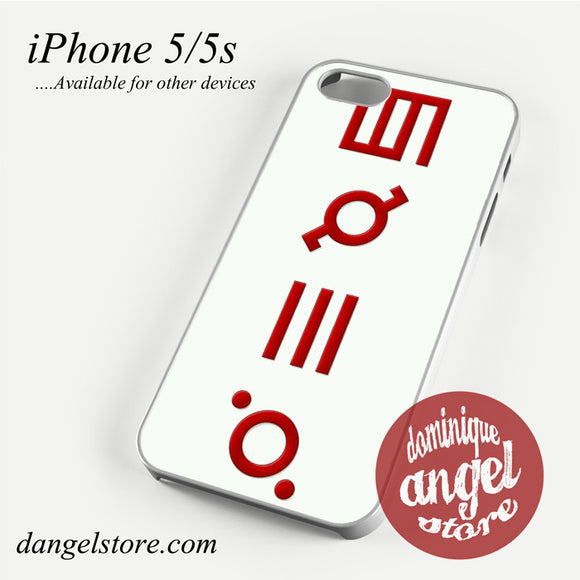 30 Seconds to Mars Logo 3 Phone case for iPhone 4/4s/5/5c/5s/6/6 plus