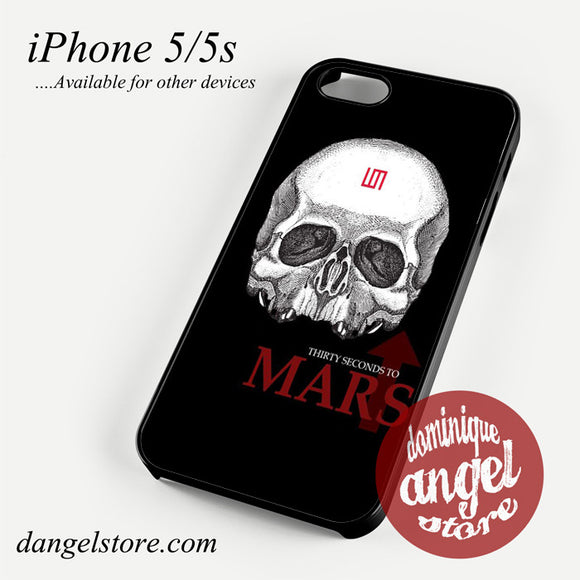 30 seconds to mars skull logo Phone case for iPhone 4/4s/5/5c/5s/6/6 plus