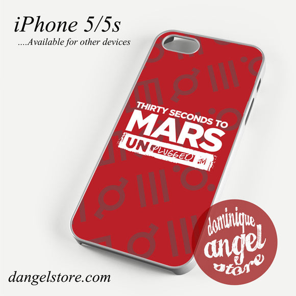 30 seconds to mars unplugged Phone case for iPhone 4/4s/5/5c/5s/6/6 plus - dangelstore
