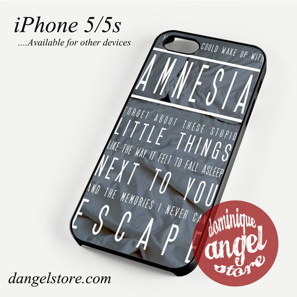 5 Seconds of Summer Amnesia Phone case for iPhone 4/4s/5/5c/5s/6/6 plus - dangelstore