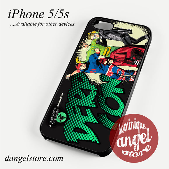 5 seconds of summer heroes Phone case for iPhone 4/4s/5/5c/5s/6/6 plus