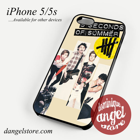 5seconds of summer music band Phone case for iPhone 4/4s/5/5c/5s/6/6 plus
