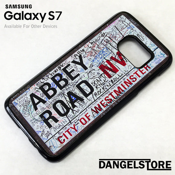 Abbey Road Street Sign - Samsung Galaxy Case - Samsung S7 Case - Samsung S7 Edge Case - DANGELSTORE