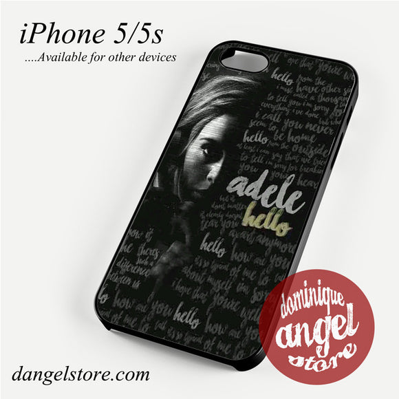 Adele Hello Phone case for iPhone 4/4s/5/5c/5s/6/6 plus