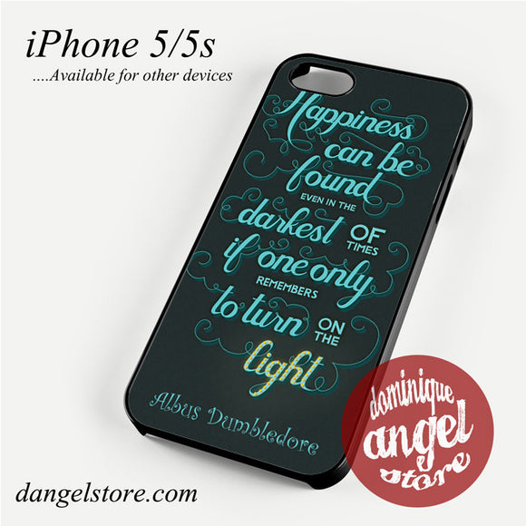 Albus Dumbledore Quotes Phone Case for iPhone 4/4s/5/5c/5s/6/6 plus
