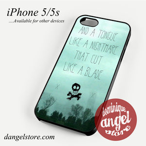 All Time Low Lyrics 3 Phone case for iPhone 4/4s/5/5c/5s/6/6 plus