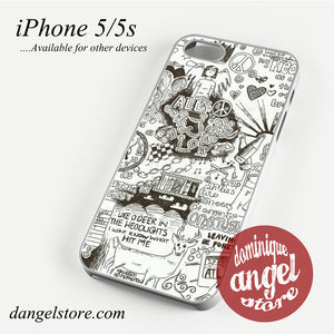 All Time Low Lyrics 4 Phone case for iPhone 4/4s/5/5c/5s/6/6 plus