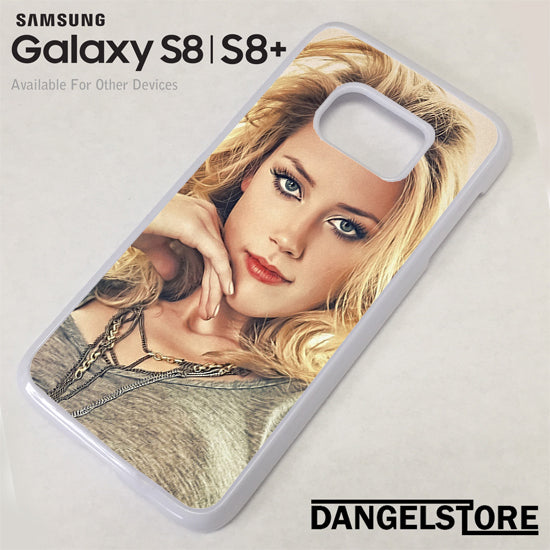 Amber Heard Beautiful Face Samsung Galaxy S8 Case - Dangelstore