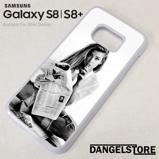 Amber Heard Reading News Samsung Galaxy S8 Case - Dangelstore