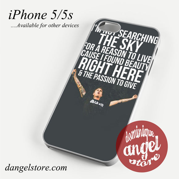 Amity Affliction Imnot Searching The Sky Phone case for iPhone 4/4s/5/5c/5s/6/6 plus