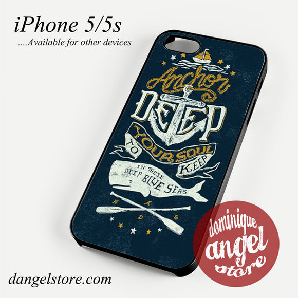 Anchor Deep Phone case for iPhone 4/4s/5/5c/5s/6/6s/6 plus
