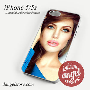 Angelina Jolie Bue Eyes Phone case for iPhone 4/4s/5/5c/5s/6/6 plus