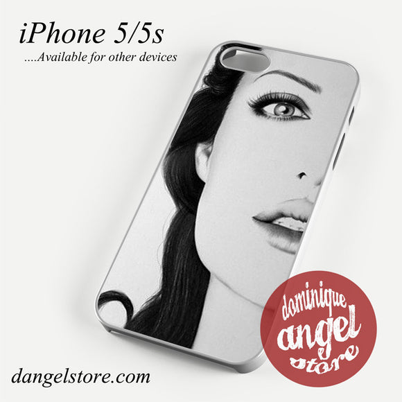 Angelina Jolie Paint Art Phone case for iPhone 4/4s/5/5c/5s/6/6 plus