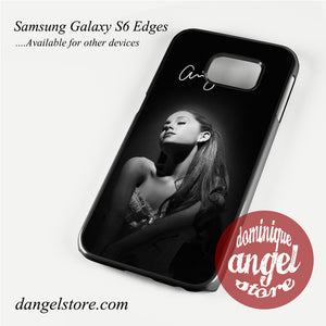Ariana Grande With Signature Phone Case for Samsung Galaxy S3/S4/S5/S6/S6 Edge