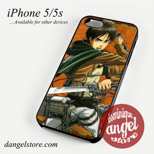Attack on The Titan Eren Phone case for iPhone 4/4s/5/5c/5s/6/6 plus