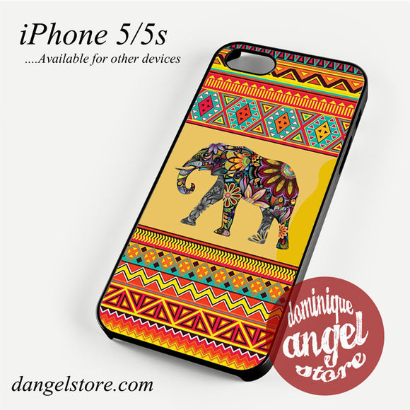 Aztec Elephant Light Yellow Phone case for iPhone 4/4s/5/5c/5s/6/6 plus