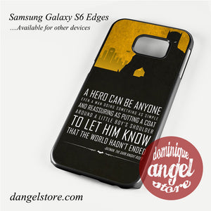 Batman Quote Phone Case for Samsung Galaxy S3/S4/S5/S6/S6 Edge