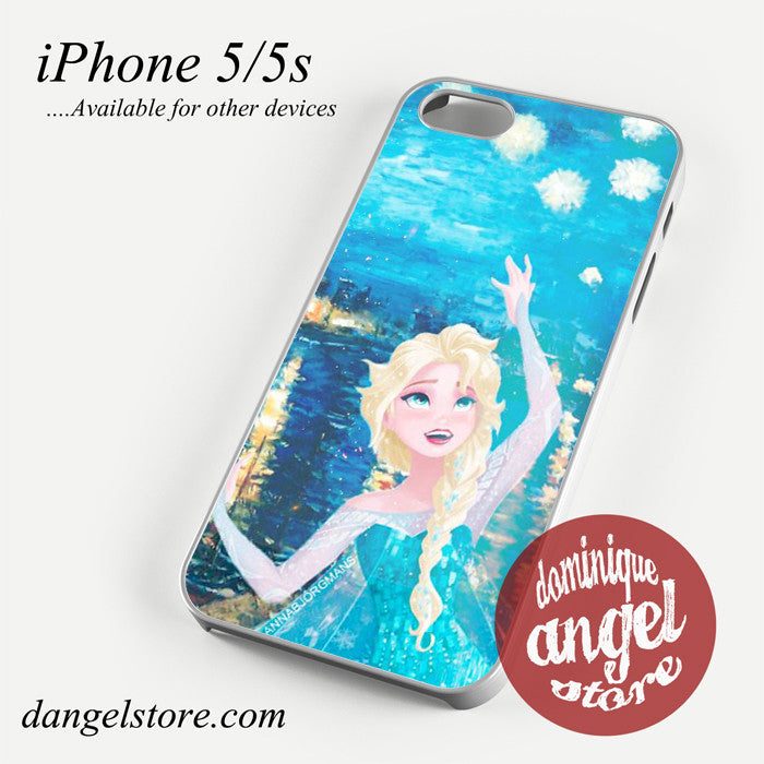 Elsa Van Gogh Art Style Phone case for iPhone 4/4s/5/5c/5s/6/6 plus