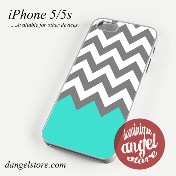 Grey White Blue Chevron Phone case for iPhone 4/4s/5/5c/5s/6/6 plus