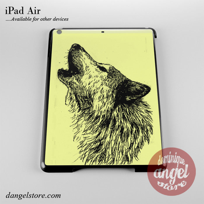 Howling Wolf Sketch Phone Case for iPad Devices