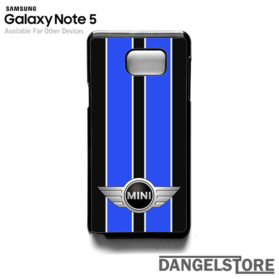 Mini Cooper Black And Blue HC- Samsung Note 5 - DANGELSTORE