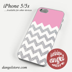 Pink Silver Glitter Chevron Phone case for iPhone 4/4s/5/5c/5s/6/6 plus