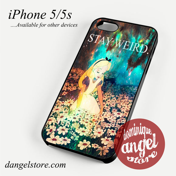 Stay Weird Alice in Wonderland Nebula Phone case for iPhone 4/4s/5/5c/5s/6/6 plus