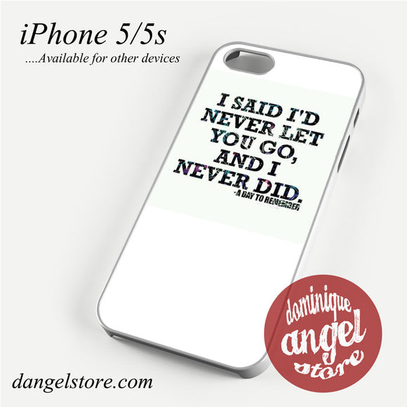 a day to remember Lyrics 5 Phone Case for iPhone 4/4s/5/5c/5s/6/6 plus