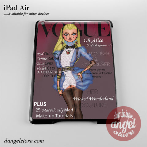 Alice Disney Vogue Magazine Phone Case for iPad Devices