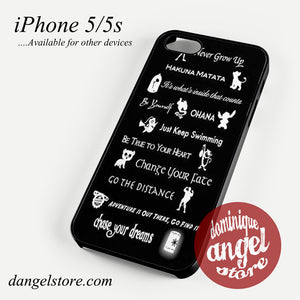 all disney quotes Phone case for iPhone 4/4s/5/5c/5s/6/6 plus