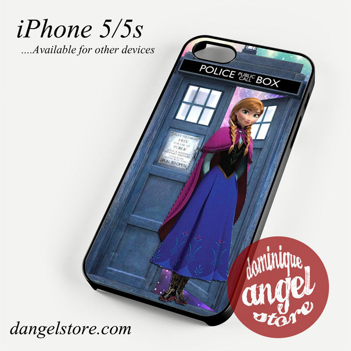 Princess anna tardis Phone case for iPhone 4/4s/5/5c/5s/6/6 plus