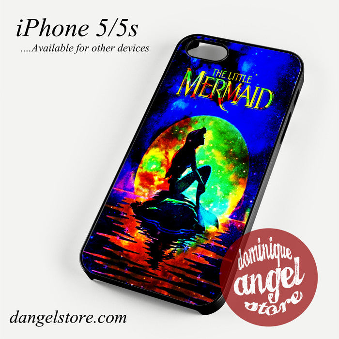 ariel little mermaid moon Phone case for iPhone 4/4s/5/5c/5s/6/6 plus